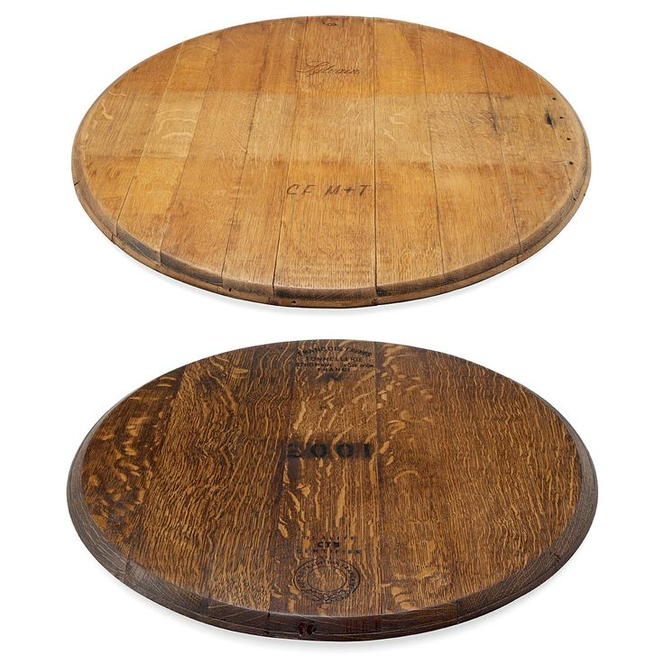 Superior Retired Wine Barrel Lazy Susan