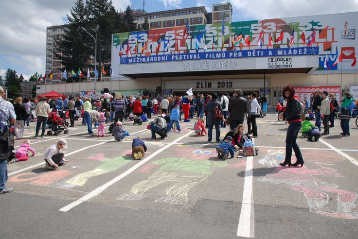 Pavement Draving - legendary ZLÍN FILM FESTIVAL activity.