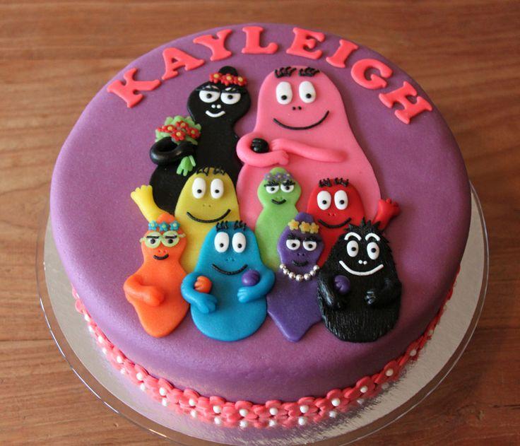 Kindertaarten - Koning Kikker Barbapapa cake