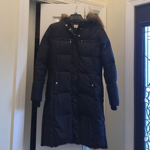 Michael Kors long puffer coat AUTHENTIC, long black puffer coat. Used for two winters, great condition. Very warm coat. Michael Kors Jackets & Coats Puffers