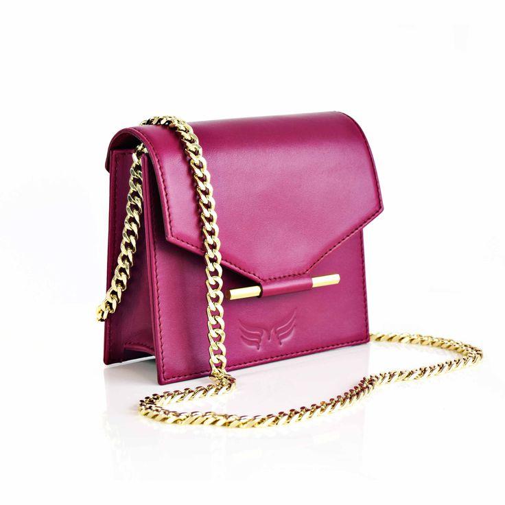 Maestoso Magenta mini leather bag.