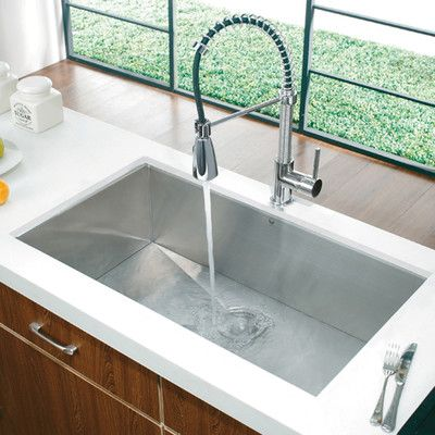 Vigo Premium Collection Undermount Stainless Steel Kitchen Sink And Faucet