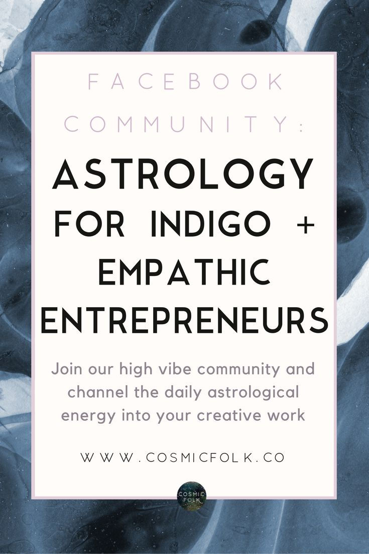 Join our high vibe community of Indigo and Empathic Entrepreneurs as we share the daily astrological energy for our Creative businesses and projects. Live intuitively, live in tune, overcome the noise and challenges you face as a sensitive soul and build the life and business you believe in!