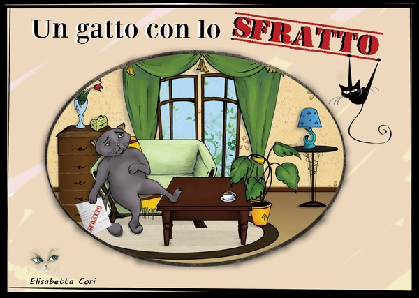 """Un Gatto con lo sfratto""- Children's book by Beatrice Bortoletti, via Behance"