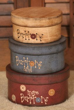 Buttons, Buttons Nesting Boxes