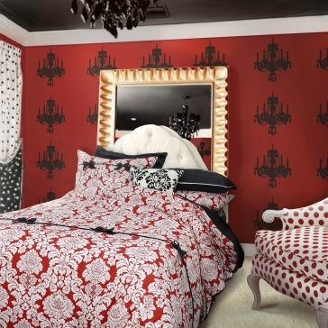 Moulin Rouge- Red: Rouge Beds, Red Mill, Guest Bedrooms, Teens Comforters, Summer Bedrooms, Rouge Bedrooms, Bedrooms Idea, Bohemian Bedrooms, Bedrooms Inspiration