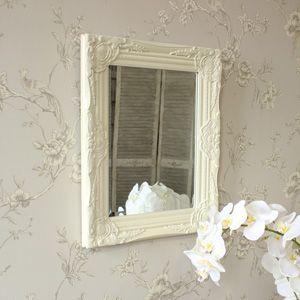 Ornate Cream Wall Mirror
