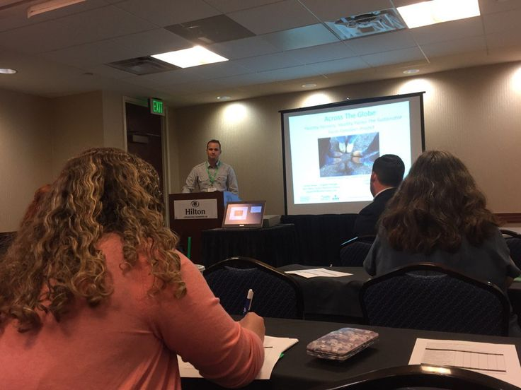Jordan Jensen, project manager for the SFF Alberta, Canada presenting at ISASH 2016 in Kentucky.