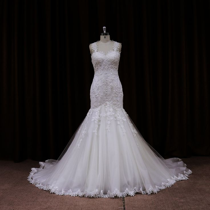 Hot Sale Lace Mermaid Wedding Dress With Sheer Lace Back Dress Could Be  Custom Made, There Are No Extra Cost To Do Custom Size And Size: Standard  Size Or ... Photo Gallery