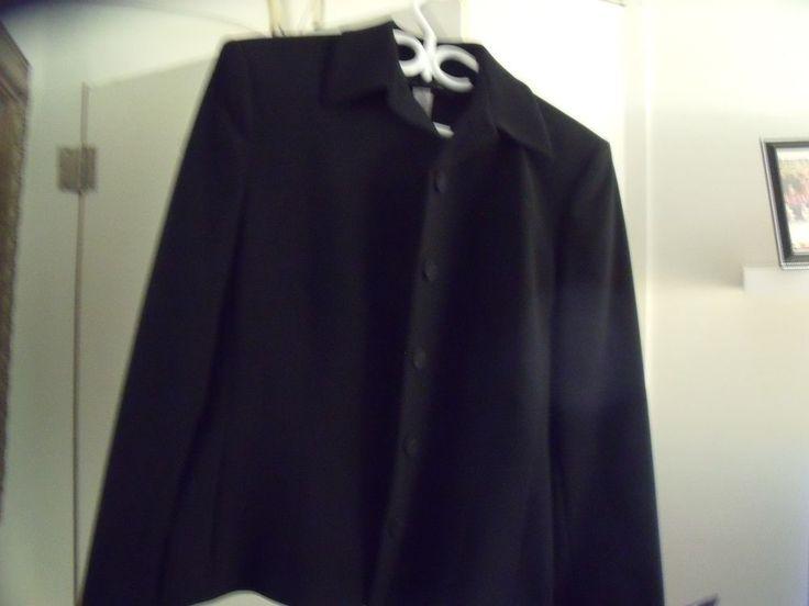 Jones New York Platium Women's Black Jacket Size 12 #JonesNewYork #Blazer
