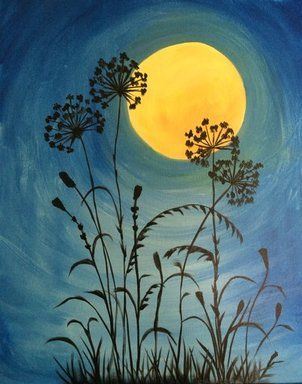 Moonlit Flowers *Paint Nite* Buy tickets at paintnite.com