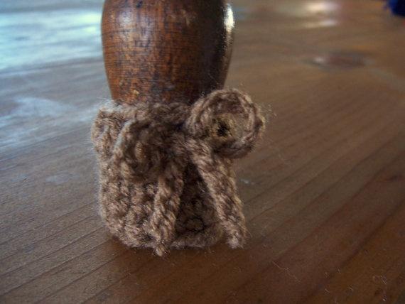 Chair Socks Crochet Leg Cozy Floor Protector by HighForestCrafts