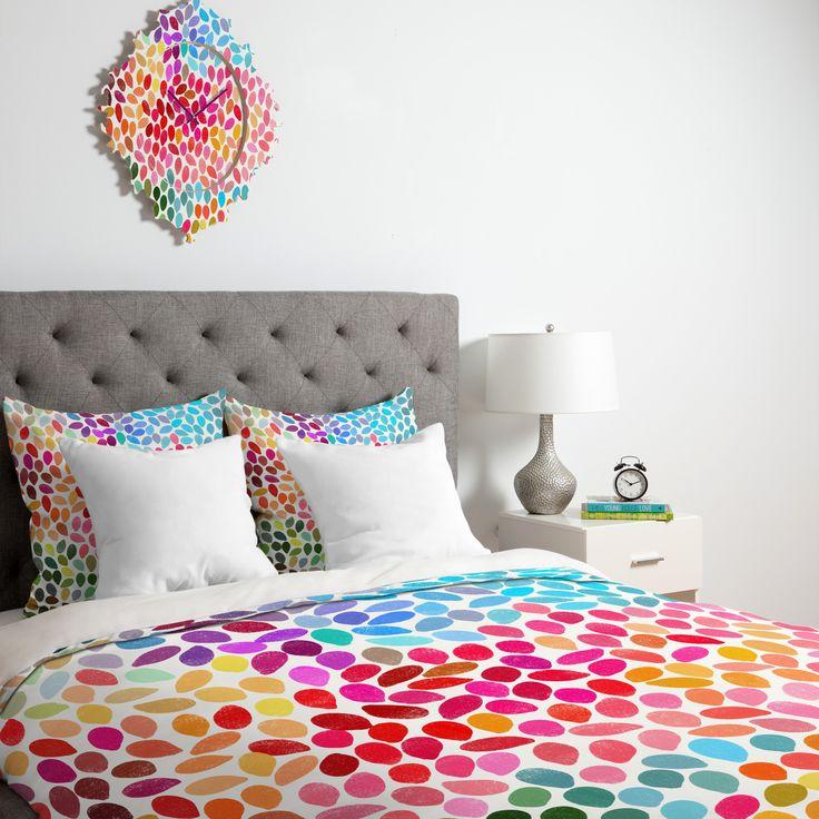 DENY Designs Garima Dhawan Duvet Cover Collection   Bedroom Decor Ideas ♥  Gorgeous Rainbow Bedding Set
