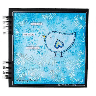 Papierowy Skrawek: Niebiesko-zimowy art journal