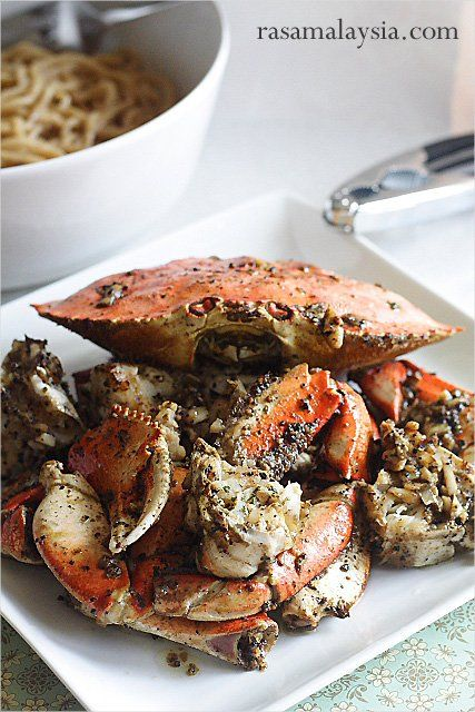Crustacean-inspired Garlic Noodles and Roasted Crab Recipes. This goes with the garlic roasted crab recipe. YUM!!!  Made this for date night!