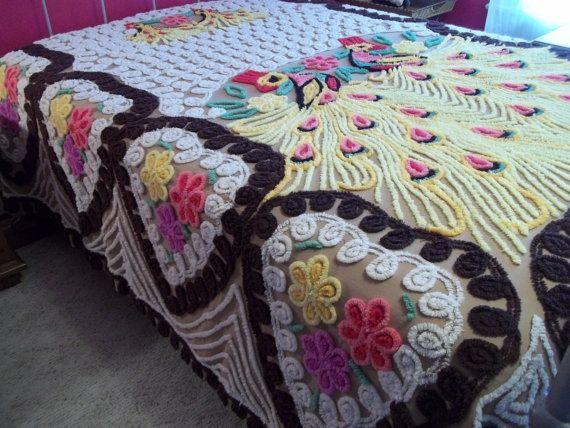Изумительные покрывала, изготовленные в технике синель