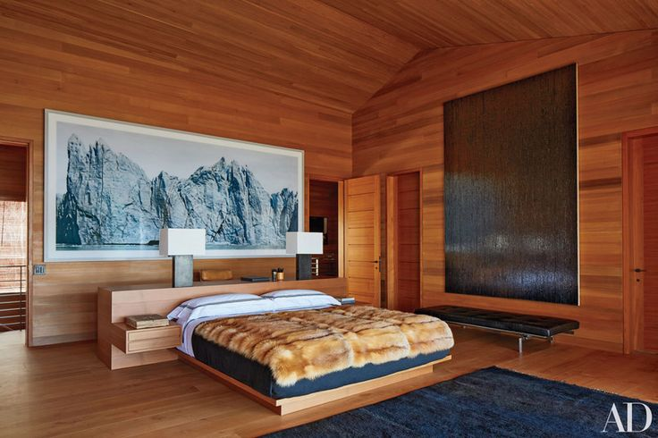 "Large-scale photograph, ""art deputing the mountain scenery"" // Architect Peter Marino's CO home"