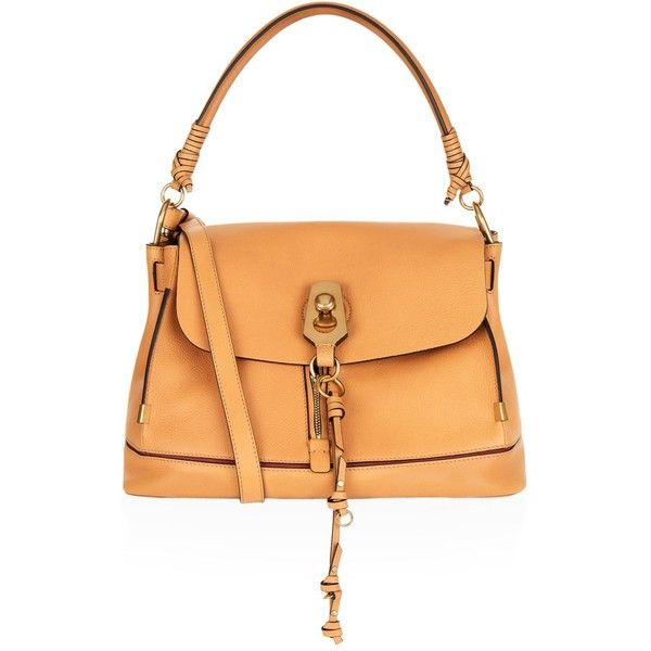 Chloé Medium Owen Bucket Bag (£1,510) ❤ liked on Polyvore featuring bags, handbags, shoulder bags, beige shoulder bag, bucket bags handbags, bucket bag purse, bucket shoulder bag and bucket purse