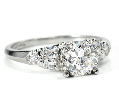 Luxury Defined: Jabel Platinum Diamond Engagement Ring - The Three Graces