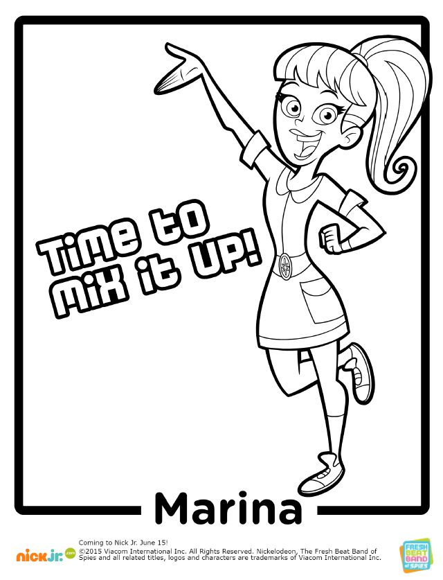 29 best fresh beat band of spies images on pinterest for Fresh beat band coloring pages