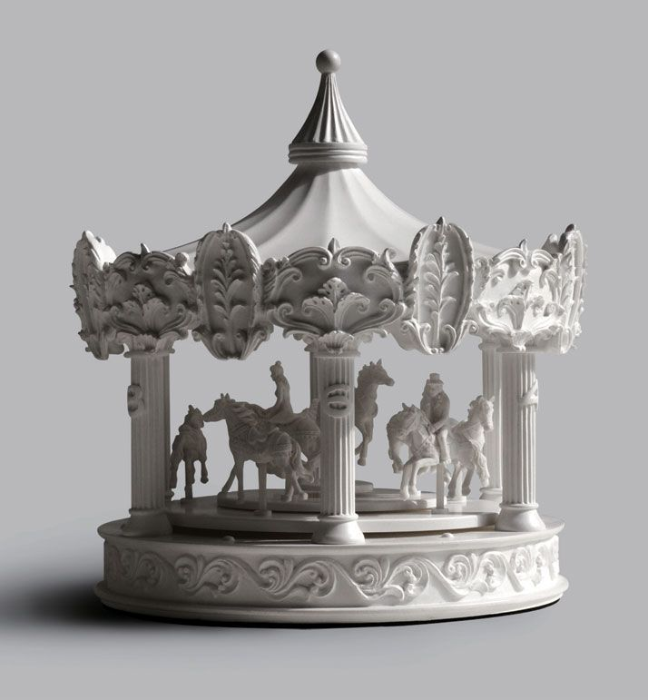 Try making ceramic Merry go Round This Clock is by Haoshi Design