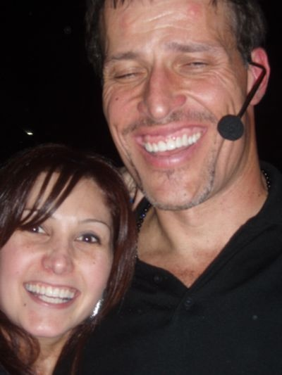 Katrina Kavvalos and Tony Robbins