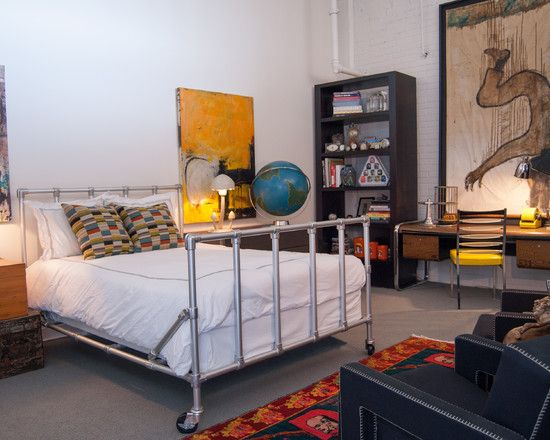 beautiful industrial bedroom decor with pipe bed frame steel leg fresh gallery home design from detail page glubdubs bedroom design beautiful industrial