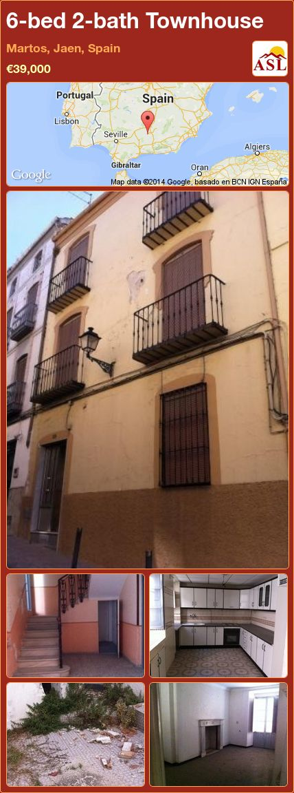 6-bed 2-bath Townhouse in Martos, Jaen, Spain ►€39,000 #PropertyForSaleInSpain