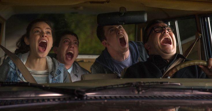 Jack Black, Dylan Minnette, Ryan Lee and Odeya Rush in Goosebumps: October 16, 2015
