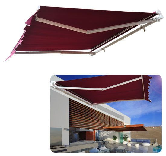 Outdoor 9.8u0027×8.2u0027 Patio Deck Manual Retractable Sun Shade Canopy Awning  Shelter