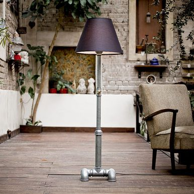 iron pipe floor lamps by Kozo Lamp
