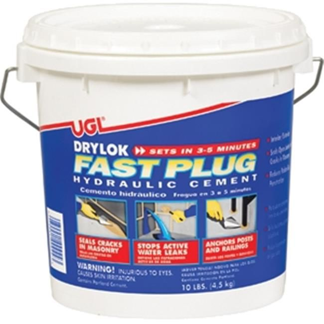 Drylock Fast Plug A Fast Setting Hydraulic Cement That Stops The Flow Of Water Even Under Pressure Throug Wet Basement Cement Waterproofing Basement Walls