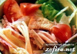 "Рецепт салата ""Цезарь"" с индейкой"