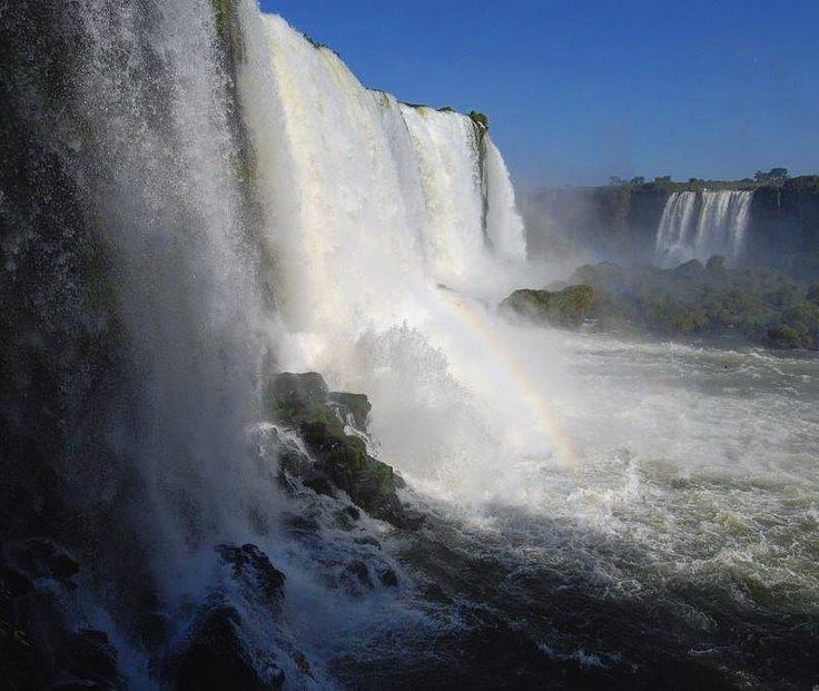 On instagram by chanan.weiss #landscape #contratahotel (o) http://ift.tt/1nufBrS are over 300 separate cascades and waterfalls at the Iguazu Falls on the border between Argentina and Brazil. #iguazu #new7wonders #waterfall #argentina #brazil #river #bluesky #amazing #ignature #instanature  _lovers #nikon #nature #nationalpark #naturelovers #travel #wanderlust