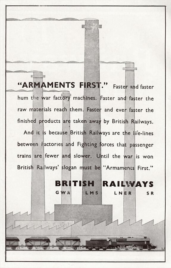 British railways setting out their priorities in 1941.
