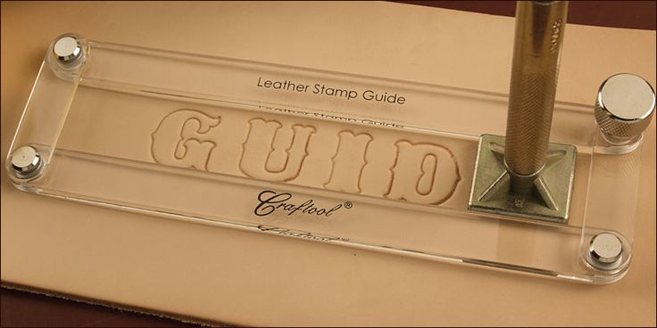 Leather Stamp Guide - Having trouble getting your stamps lined up perfectly straight? Properly lining up leather stamps is so easy with our stamp guide. By loosening the.