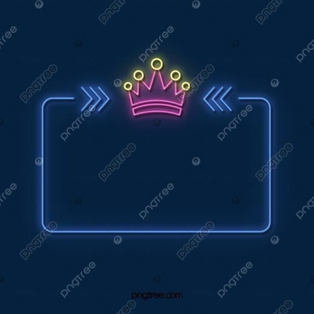 Neon Crown Color Light Effect Element The Neon Lights Luminous Efficiency Dialog Png Transparent Clipart Image And Psd File For Free Download Light Colors Light Effect Neon Lighting