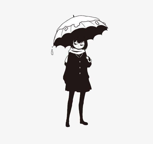 Девушка с зонтом картинки черно, пригласительные