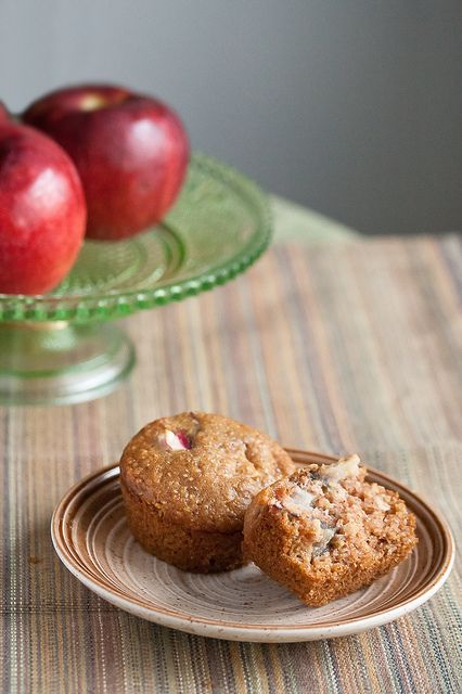 Apple Multigrain Muffins by Isabelle @ Crumb