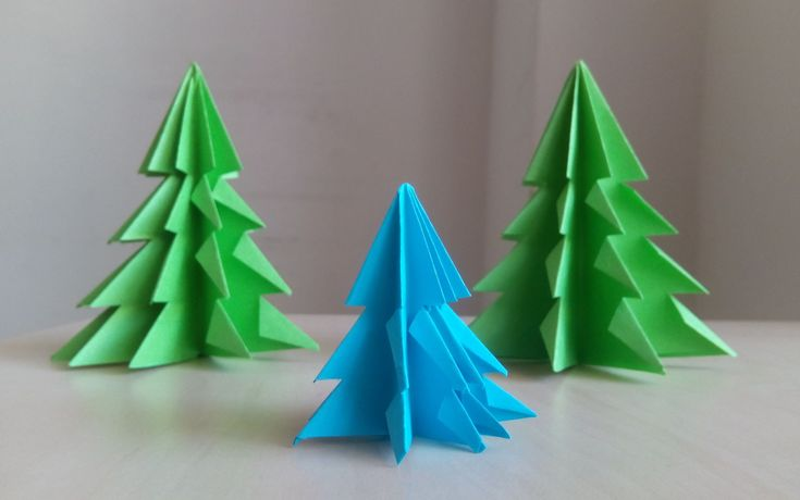 3D Paper Christmas Tree - How to Make a 3D Paper Xmas Tree DIY Tutorial ...
