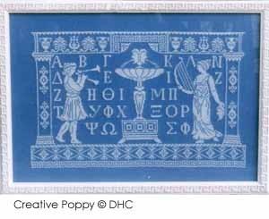 Dessins - Greek blue - a Greek alphabet (cross stitch pattern)