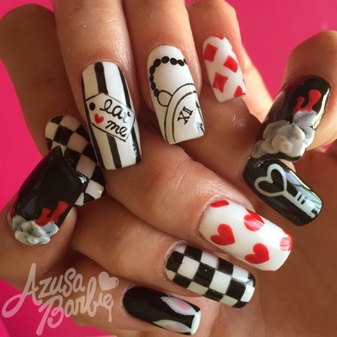 Alice In Wonder Land Theme by azusa from Nail Art Gallery