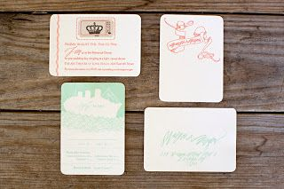 Monday, October 31, 2011 Margie & Morgen's Queen Mary wedding by Blackbird Letterpress