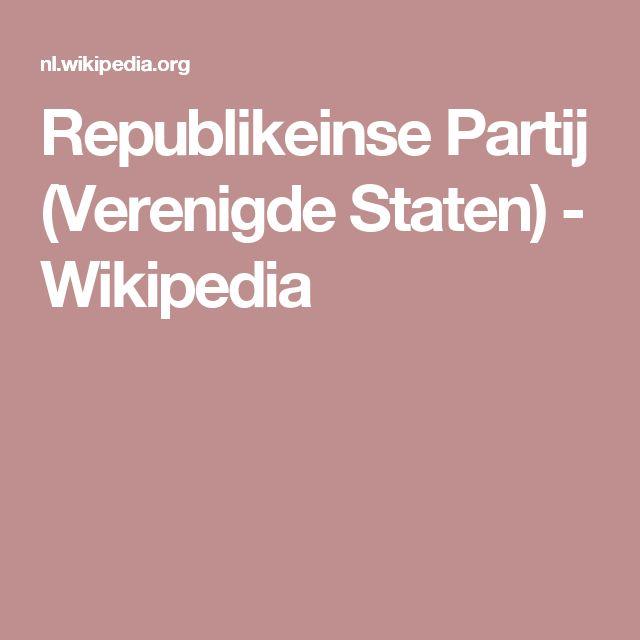Republikeinse Partij (Verenigde Staten) - Wikipedia