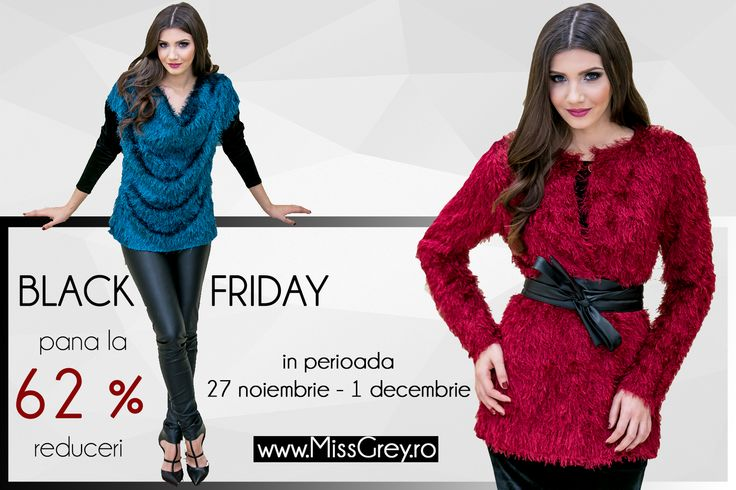 Wrap yourself in coloured and warm outfits at awesome prices for Black Friday! https://missgrey.ro/ro/black-friday/31?utm_campaign=blackfriday2&utm_medium=paid_post&utm_source=pinterest