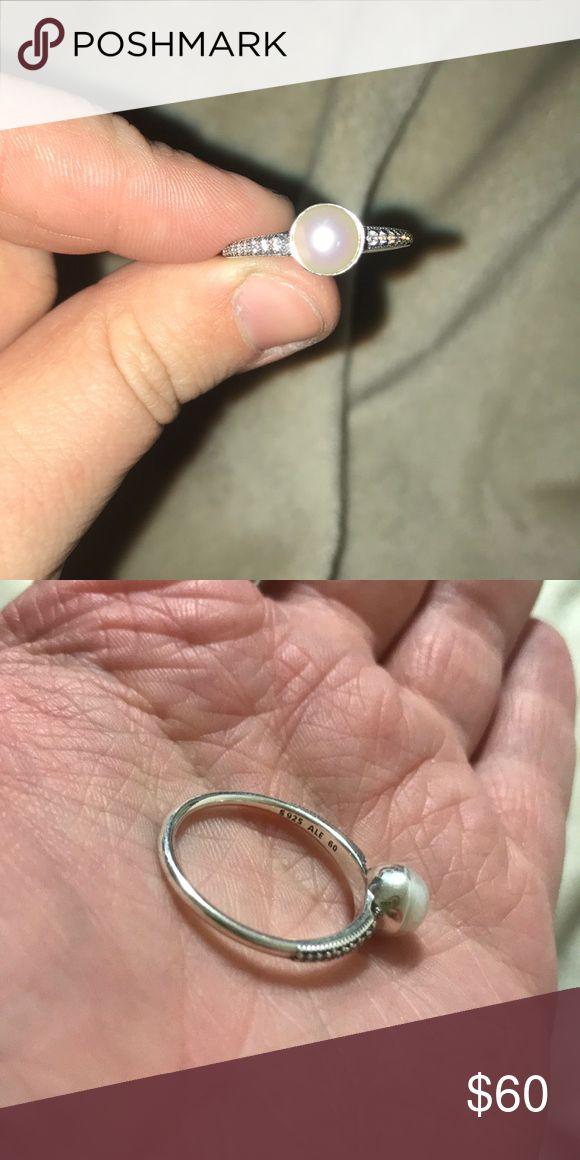 Pandora Pearl Ring Pandora   Size 60 (9)   $75 Pandora Jewelry Rings