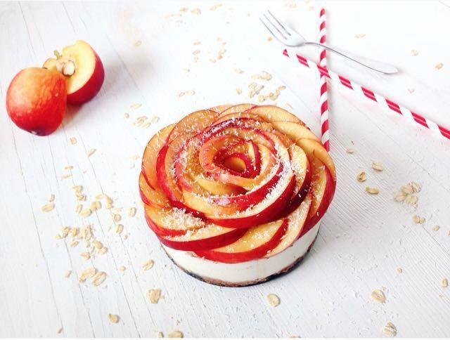 Glutenvrije perzik cheesecake