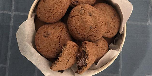 Nutella cookies - lækker opskrift med Nutella i midten