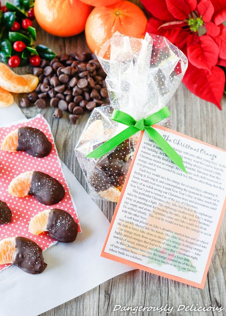 Salted Chocolate Dipped Christmas Oranges with Printable
