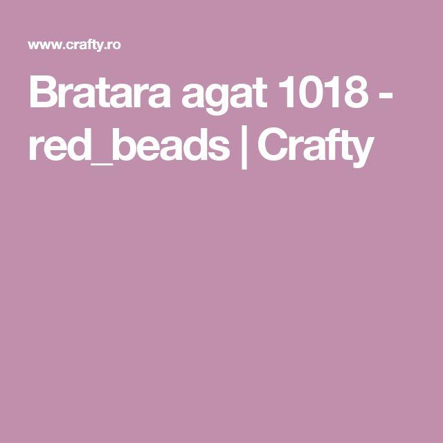 Bratara agat 1018 - red_beads | Crafty